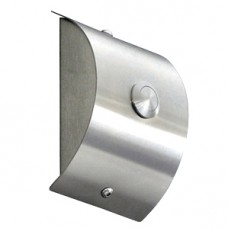 domed doorbell, stainless steel, wall-mounted