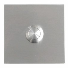 square doorbell, stainless steel, flush mounting