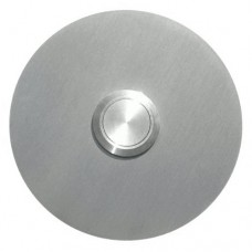 round doorbell, stainless steel, flush-mounted