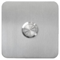 square doorbell, stainless steel, flush-mounted