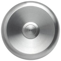 round doorbell, massive stainless steel, wall-mounted